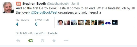 Derby Book Festival tweet
