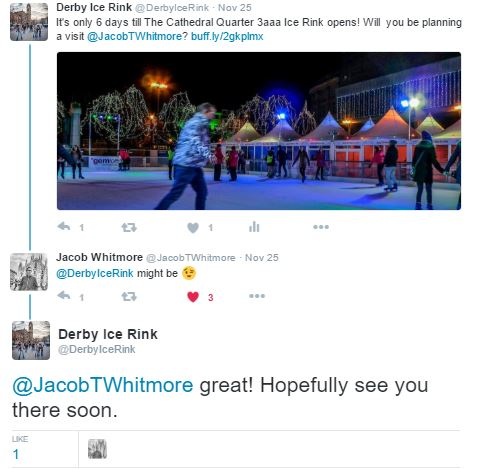 Derby Christmas Ice Rink - How to revive an Inactive Social Media account
