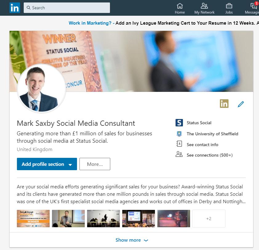 LinkedIn profile changes update