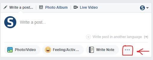 Facebook Post Options