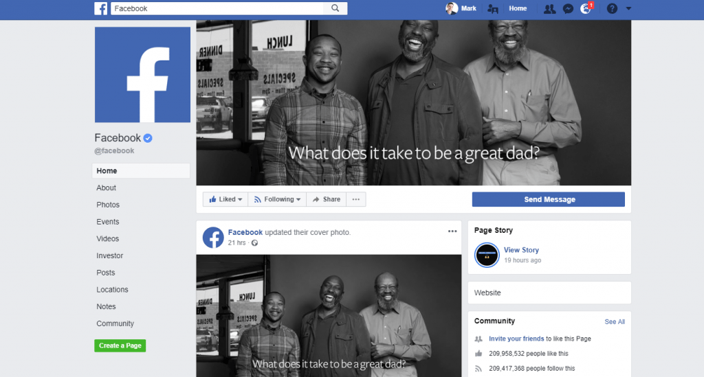 Facebook Stories Page View
