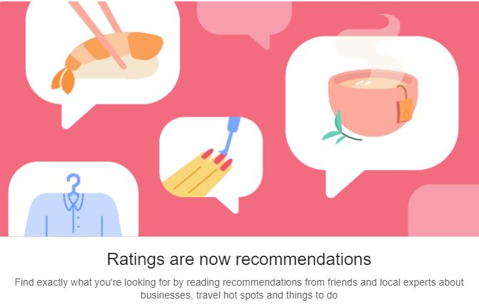 Facebook Ratings Now Recommendations