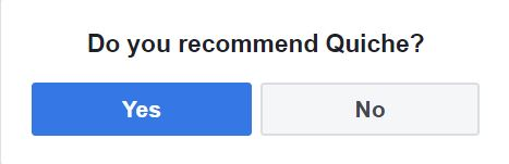 Facebook Recommendations Quiche