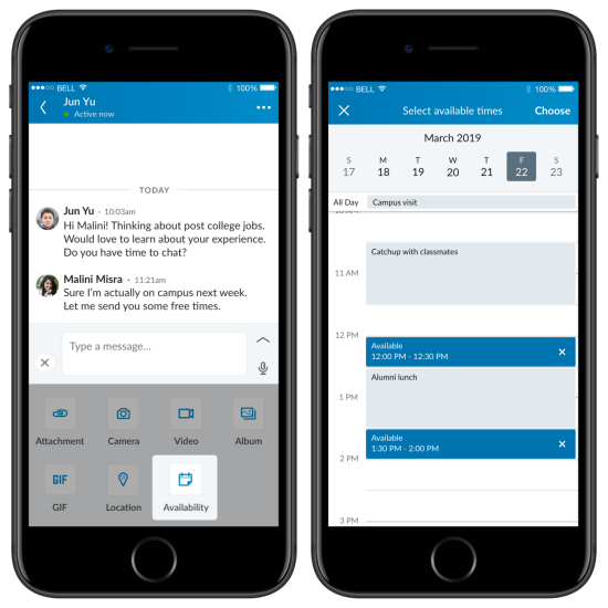 LinkedIn messaging updates