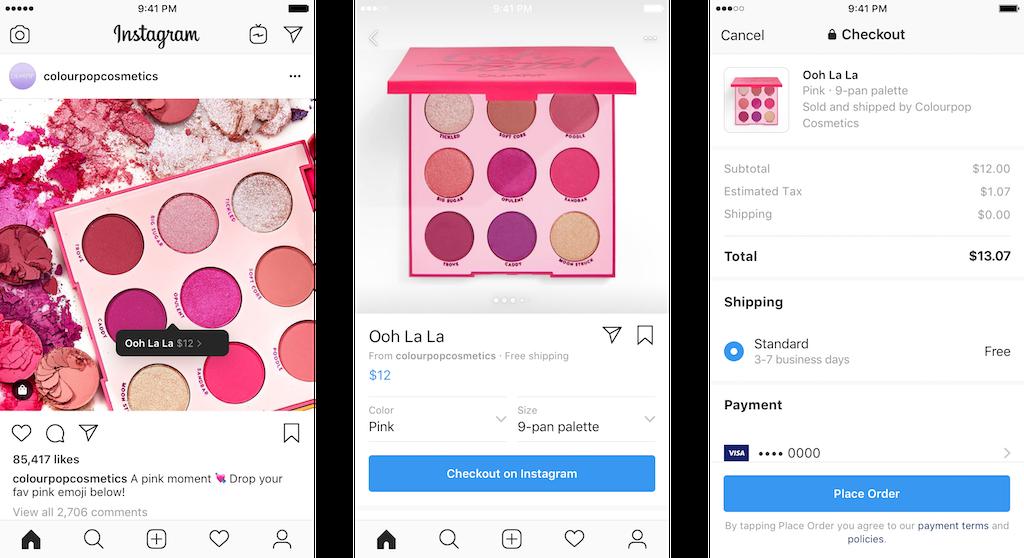 Instagram social media shopping