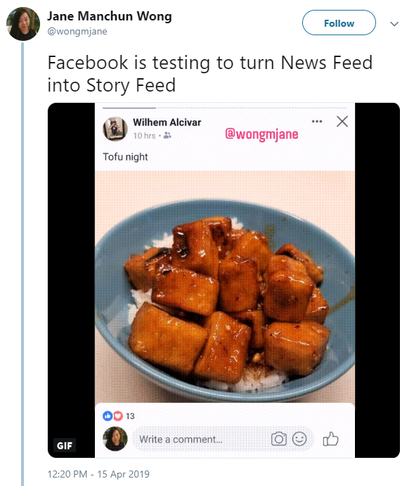 facebook story feed