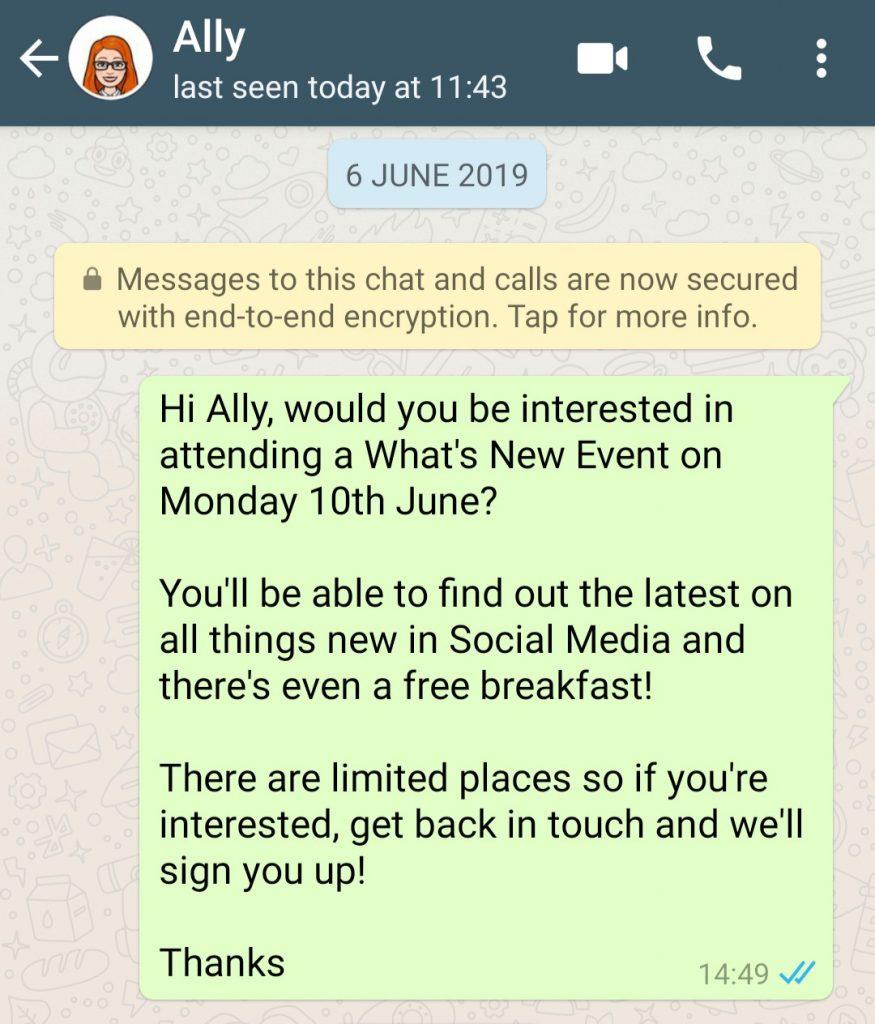 WhatsApp Business Message