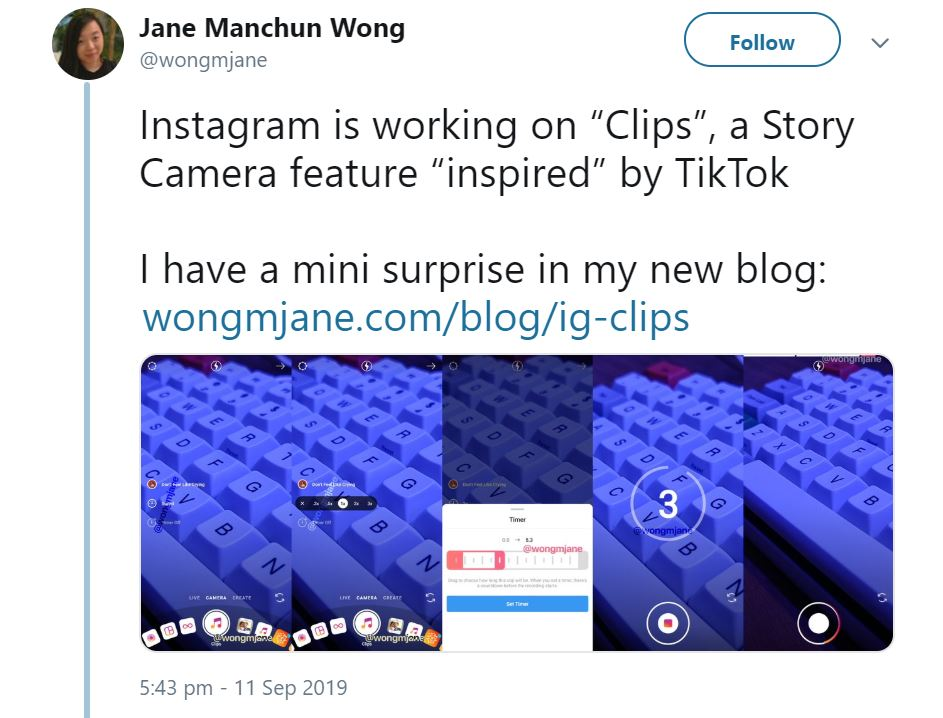 Instagram clips - status social